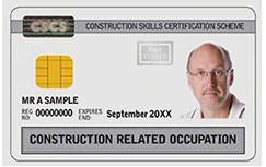 White: Construction Related Occupation Card