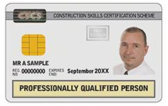White : Professionally Qualified Person Card